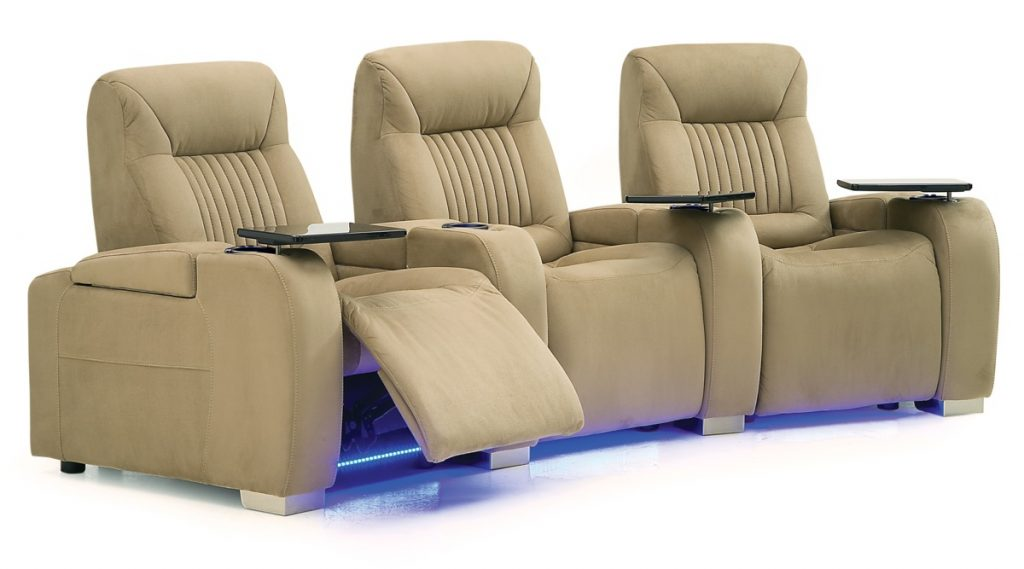 Autobahn Palliser Leather Power Recliner Theater Seating