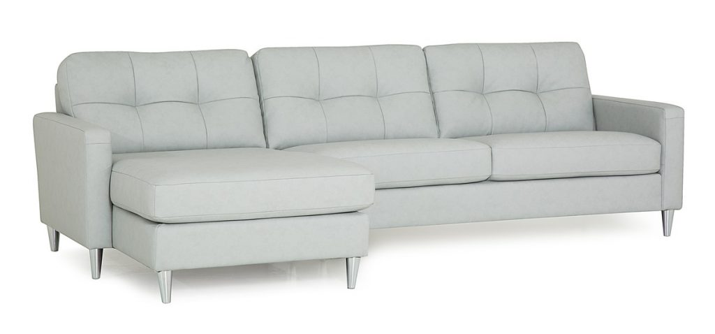 Beech Palliser Leather Sectional Sofa