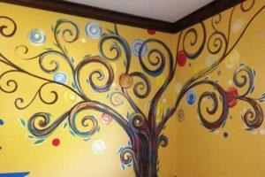 kids bedroom wall painting