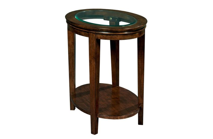 Kincaid Living Room Glass Top End Table